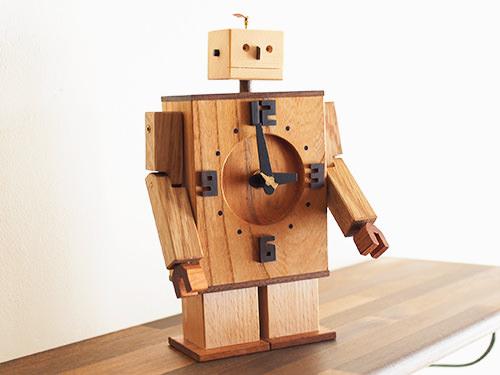Robo Clock(ケヤキ)/WooD ToP