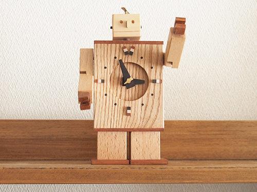 Robo Clock(ナラ2号)/WooD ToP