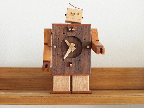 Robo Clock( ウォールナット)/WooD ToP