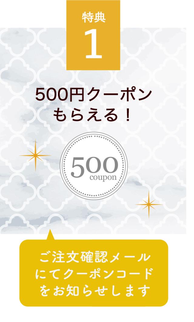 500円クーポンがもらえる