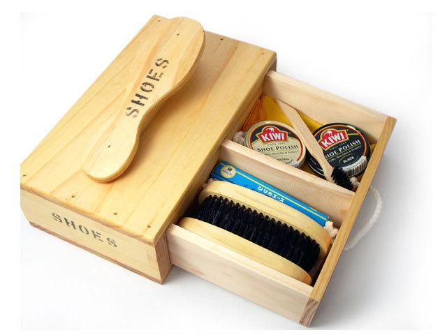 シューケアボックス木箱入りおすすめセット