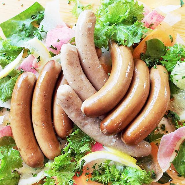【送料込み】鹿児島ますや【完全無添加】鹿児島黒豚「短鼻豚」と国産鶏ムネ肉のウインナー5種類味比べ/R-2