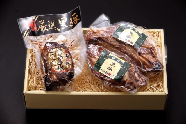 黒豚スペアリブ炭火焼豚セット / 31134