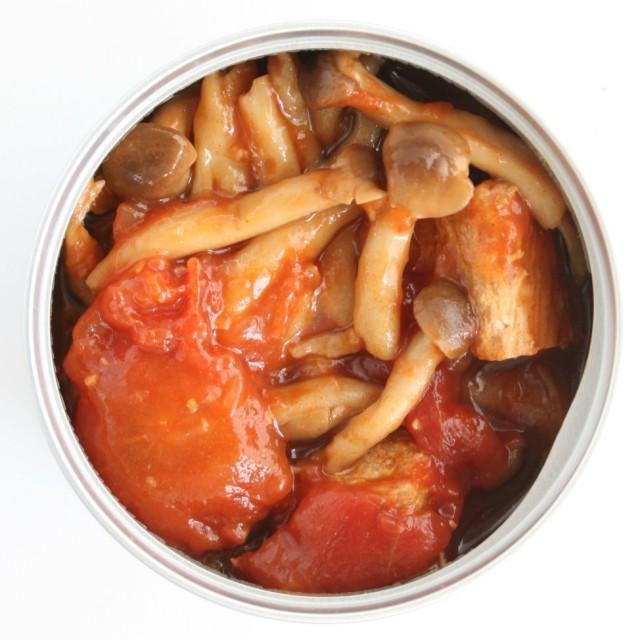 カツオトマト開缶
