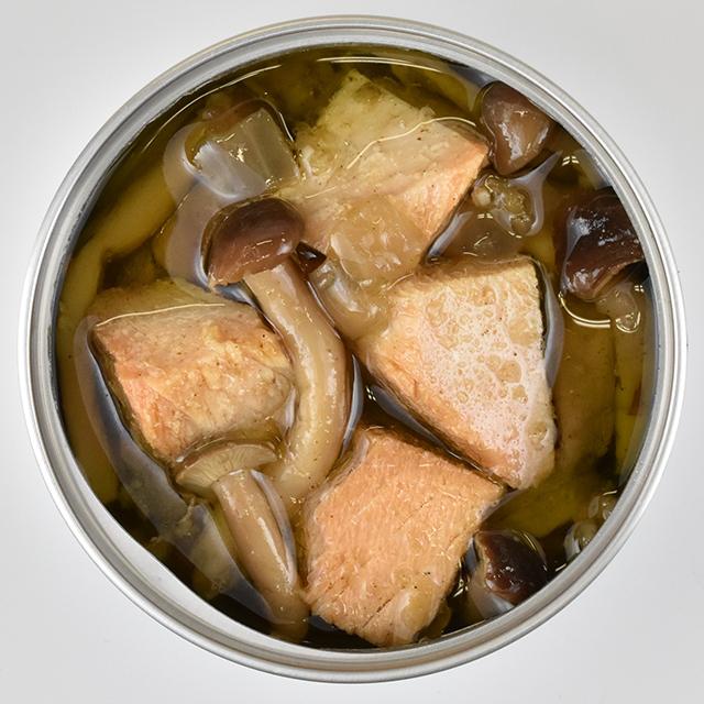 マグロキノコ開缶