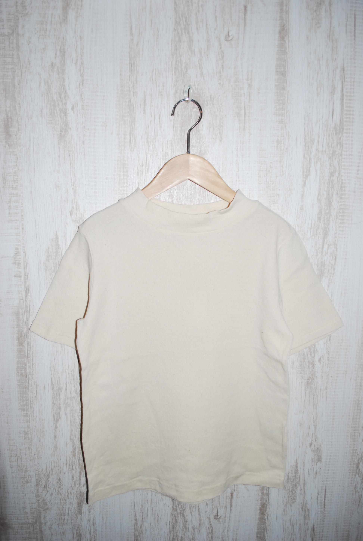 ~SALE~ prit 30/1マナプール中白染めミニワッフル半袖モックネックTシャツ(生成)