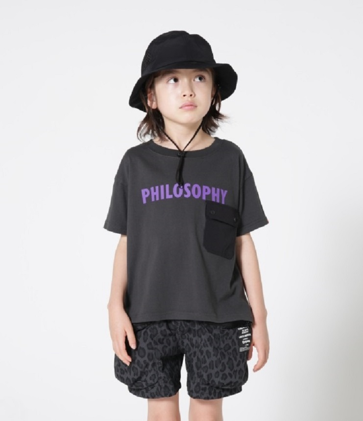 highking philosophy short sleeve フィロソフィー半袖Tee ブラック(Mens)