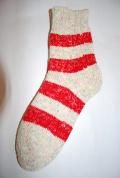 Planet-e Socks ボーダーソックス(レッド)