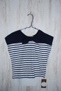 〜SALE〜 WHIP CREAM  リボン切替2WAY Tシャツ ブルー(100、110センチ)