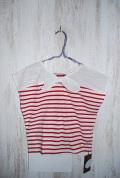 〜SALE〜 WHIP CREAM  リボン切替2WAY Tシャツ レッド(80、110、120センチ)