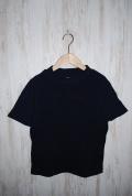 ~SALE~ prit 30/1マナプール中白染めミニワッフル半袖モックネックTシャツ(ネイビー)