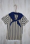 〜SALE〜 Mein Heim  バンダナ付Tシャツ キナリ×ブルー(110〜150センチ)