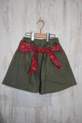 〜SALE〜 PONY GO ROUND  BANDANA RIBBON SKIRT カーキ(110〜140センチ)
