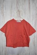 ~SALE~ swap meet market 24/-バックフレアー5ブソデTシャツ オレンジ(100センチ)