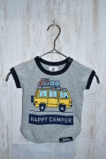 〜SALE〜 highking happy camper short sleeve  グレー(80、100センチ)