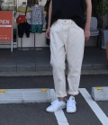 DEEP BLUE 【定番】アンクル丈ボーイフレンドパンツ(アイボリー)