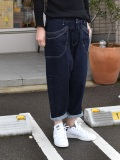 【定番】DEEP BLUE ワイドルーズガーデニングパンツ(ワンウォッシュ)