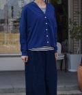 chloro sister  【定番】エーゲ海天竺ドロップショルダーカーディガン(ブルー)