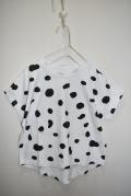 ~SALE~ 6°vocaLe スポテッドTシャツ19 ホワイト(100センチ)