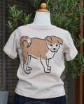 ~SALE~ nini  あきたいぬTシャツ ピンクベージュ(90、100、120センチ)