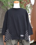~SALE~ NEEDLE WORKS  dot switchig T-shirt ブラック(90、100センチ)