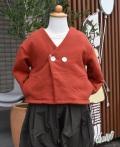 ~SALE~ swap meet market  キモウウラケ長袖カーディガン レッド(80、90センチ)