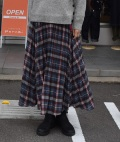~SALE~ inspi タータンチェックプリーツスカート(ブルー)