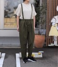 NEEDLE WORKS  Stretch-chino suspender pants  カーキ(Lady's)