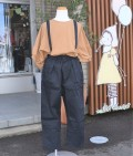 ~SALE~ NEEDLE WORKS  Stretch-chino suspender pants  ブラック(130センチ)