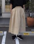 chloro sister  【定番】30/バーバリータックフレアースカート(ライトベージュ)