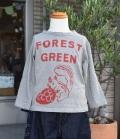 ~SALE~ nini  森のりすTシャツ グレー(100、110、130センチ)