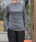 ~SALE~ toujours ensemble  【定番】スーピマフライスハイネック長袖Tシャツ(チャコールグレー)