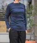 ~SALE~ toujours ensemble  【定番】スーピマフライスハイネック長袖Tシャツ(ダークネイビー)