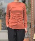 ~SALE~ toujours ensemble  【定番】スーピマフライスハイネック長袖Tシャツ(レンガ)
