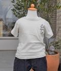 nini  フレンチブルドッグ刺繍Tシャツ ライトグレー(80~145センチ)