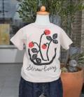 nini  Water bowl Strawberry Tシャツ ピンクベージュ(80~145センチ)