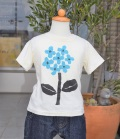 nini  あじさいTシャツ オフ(80~145センチ)