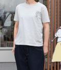 nini  フレンチブルドッグ刺繍Tシャツ ライトグレー(Lady's、Mens)