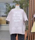 NEEDLE WORKS HAPPY Long-Big T-shirts ロングビッグTシャツ ピンク(90~150センチ)