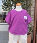 Gemeaux ラウンド風Tシャツ パープル(80~150センチ)