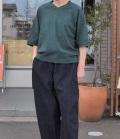 chloro sister  【定番】リコット天竺ラグランVネックTee(グリーン)