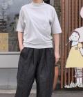 ESTROISLOSE 【定番】プレミアム天竺タートル半袖Tシャツ(ライトグレー)