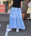 ESTROISLOSE リメイクライトオンスデニムシャツスカート(ブルー)