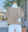 NEEDLE WORKS Pocket Big T-shirts ポケットビッグTシャツ ブラウン(90~150センチ)