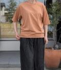 ESTROISLOSE プレミアム天竺 クルーネック半袖Tシャツ(テラコッタ)