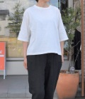 chloro sister  【定番】リコット天竺5分袖クルーネックビックTシャツ(オフ)