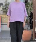 chloro sister  【定番】リコット天竺5分袖クルーネックビックTシャツ(ピンク)