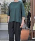chloro sister  【定番】リコット天竺5分袖クルーネックビックTシャツ(グリーン)