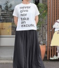 thomas magpie mini T-shirt  ミニTシャツ never give nor an excuse(ホワイト)