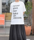thomas magpie big T-shirt  ビッグTシャツ never give nor an excuse(ホワイト)